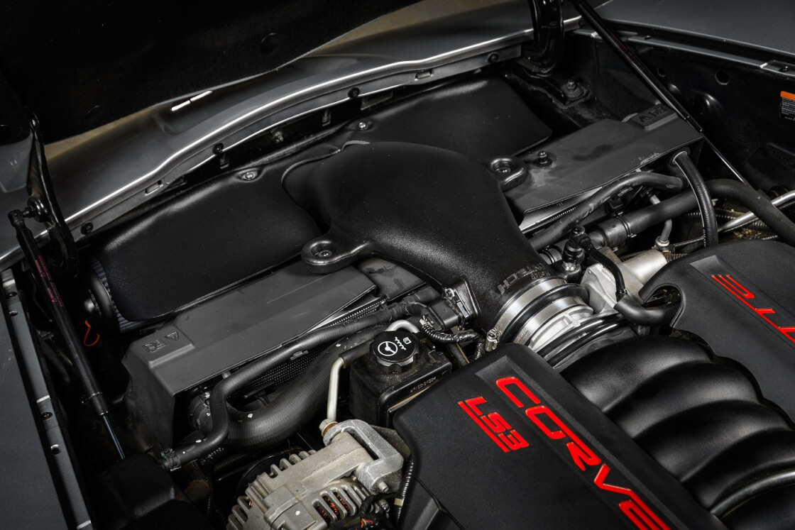 C6 Corvettes 6.2L LS3 Powered 2008-13 iNTECH Cold Air Intake from Holley, 15 additional horsepower