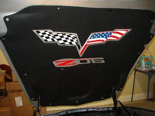 2005-13 C6 Corvette Full Color American Flag Hood Pad Logo Decal