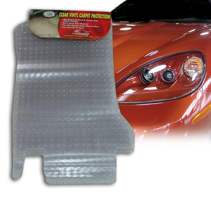 C6 Corvette Clear Protector Cargo Floor Mat Set 05-13