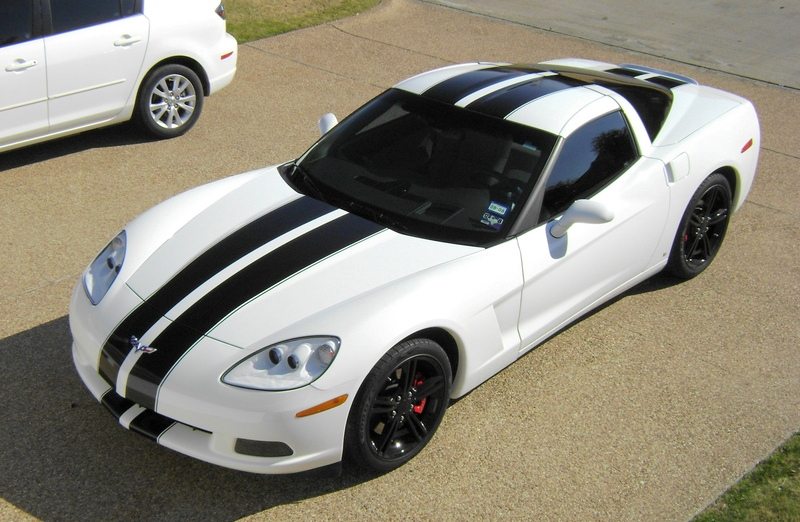 C6, Grand Sport, Z06 Hood Stripe - Racing Stripes 2, Full Body