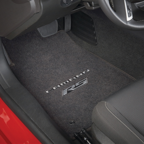 2010+ Camaro RS Floor Mats (Silver Lettering & RS Logo)