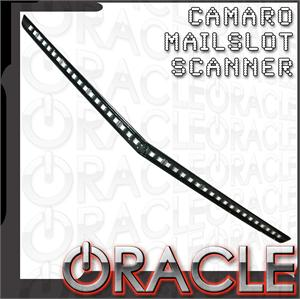2010-14 Fifth Gen Camaro Oracle Mail Slot LED Scanner for Front SS Scoop with Remote Control