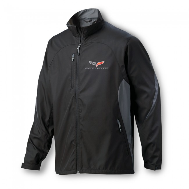 C6 Corvette Ultralight C6 Corvette Flag Logo Colorblock Jacket