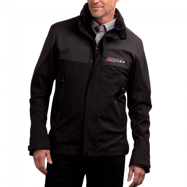 Corvette C7 Z06 Logo Stealth Reflective Jacket in  Black
