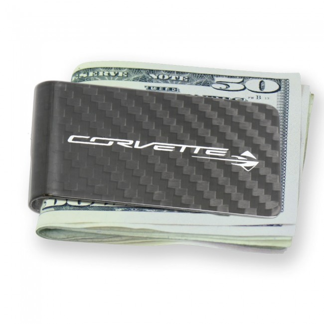 Corvette Stingray Carbon Fiber Money Clip - Carbon Fiber