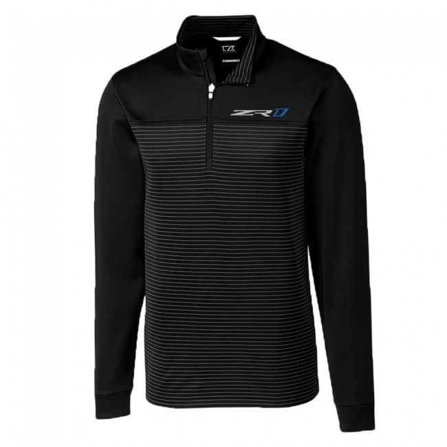 Corvette C7 ZR1 Cutter & Buck ZR1 Traverse Quarter-Zip - Jacket, Shirt Black