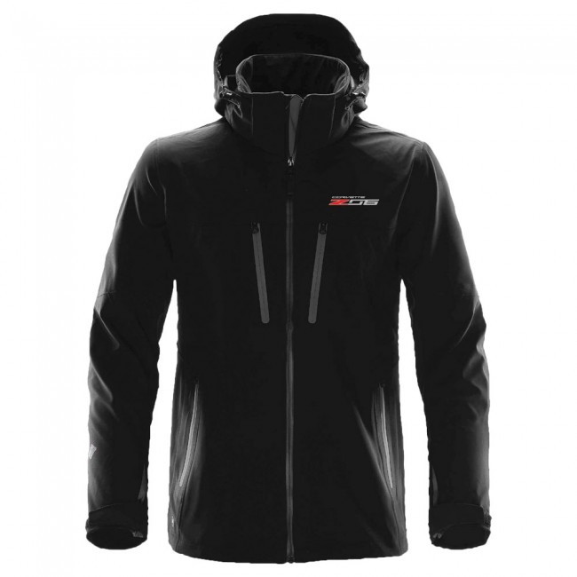 Corvette C7 Z06 Logo Men�s Patrol Soft Shell Z06 - Black/Carbon