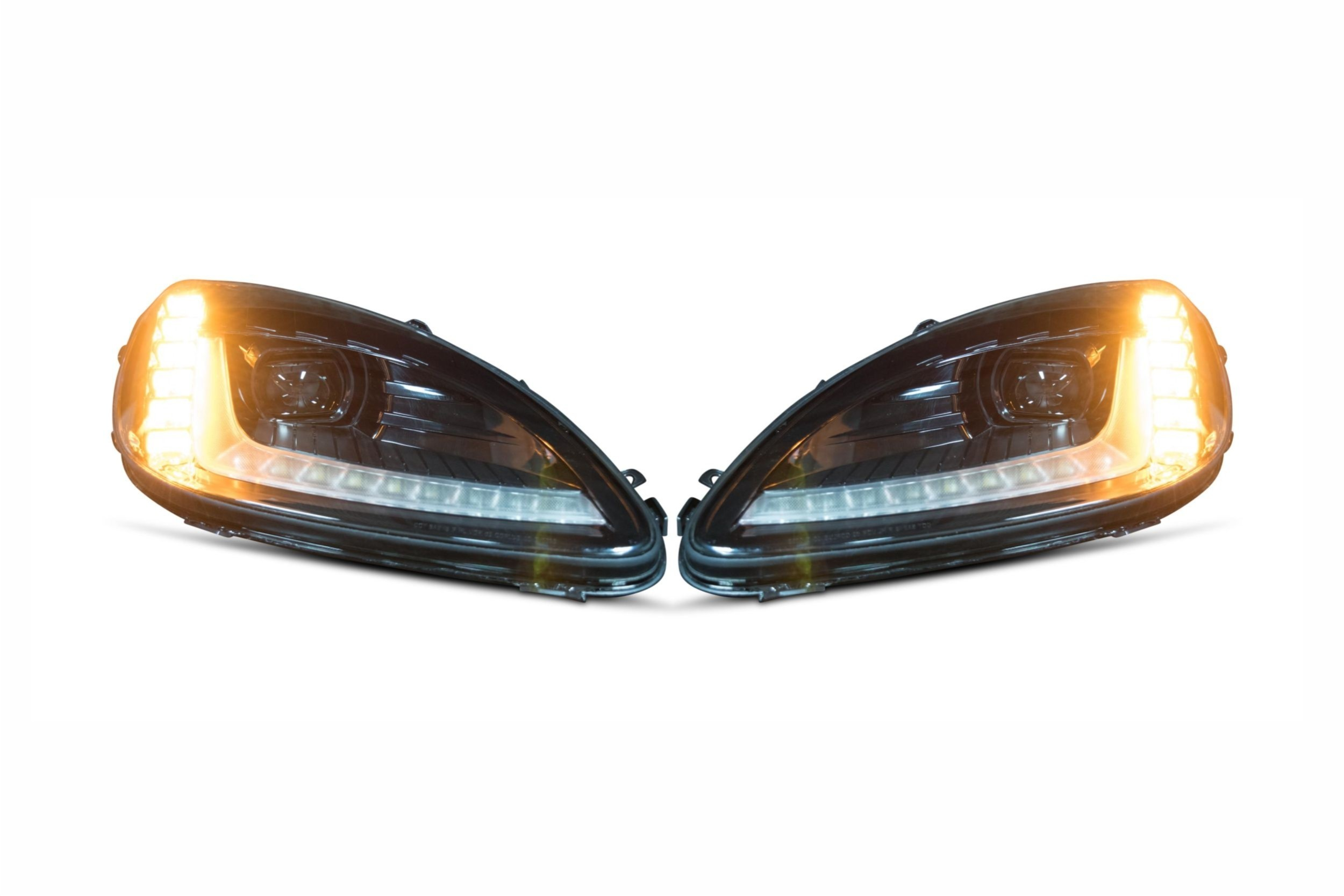 C6 Corvette 05-13, Morimoto XB LED C7 Style Headlight Replacement Assemblies, Set of 2