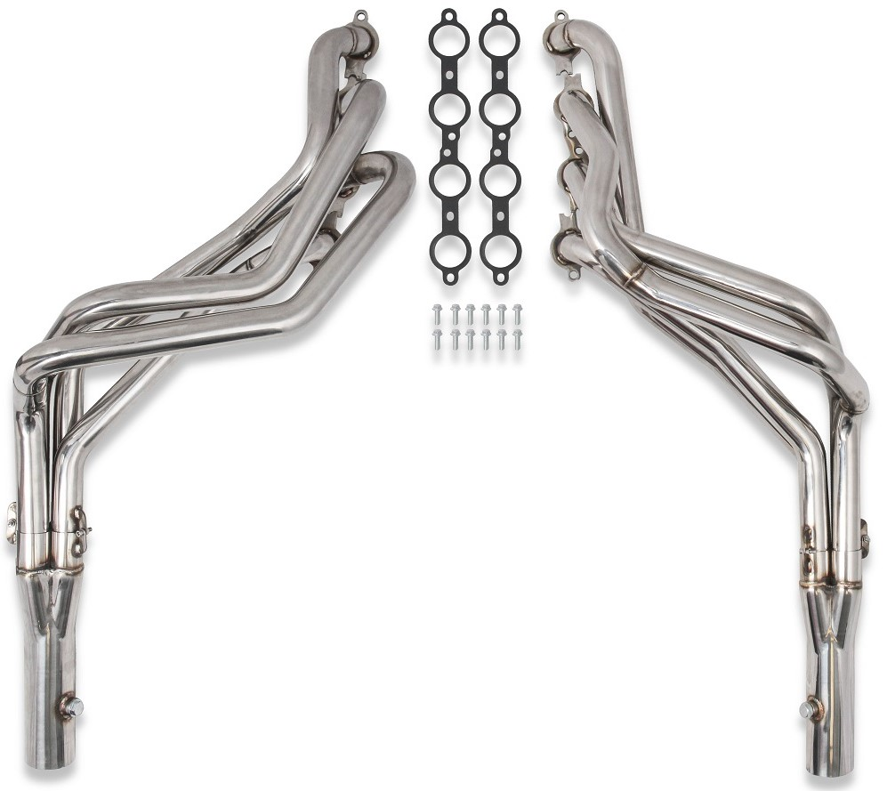 "1982-1993 Flowtech S-10 LS Swap Polished 409 SS Long Tube Headers,  1 3/4"" Primary, 3"" Collectors"