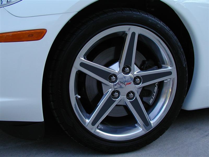 C5 Corvette Z06 Wheel Spoke Decal Letter Set