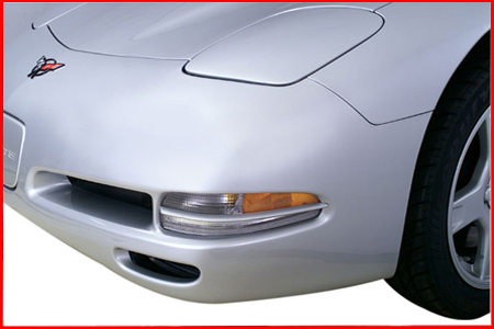 C5 Corvette Altec Front Turn Signal Grill, Color Paint Matched or Carbon Fiber Style