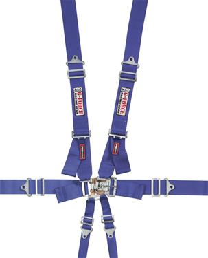 G Force - Cam Lock Individual Shoulder, Lap, Sub 6 Point Harness Belt Set, Pull Down