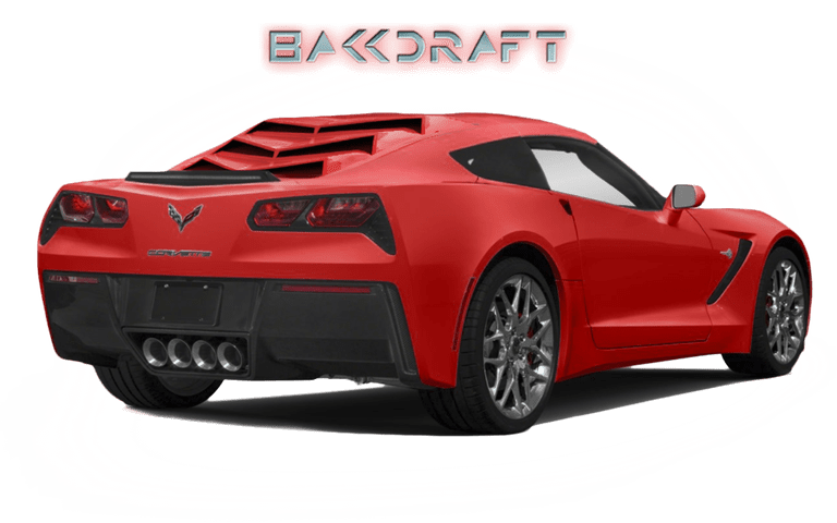 2014-19 C7 Corvette GlassSkinz Bakkdraft Rear Window Valance / Louver