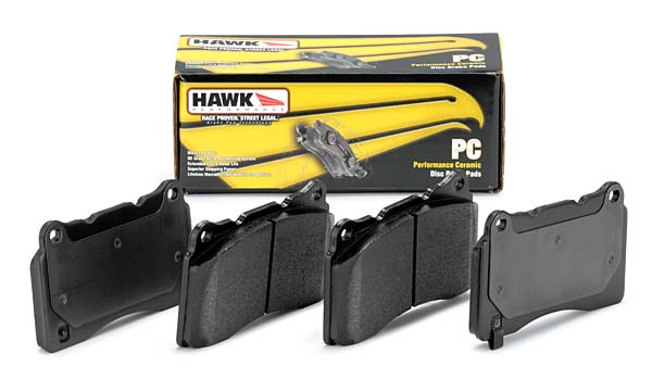 C6 Corvette BASE Model Hawk Ceramic Brake Pads - Rear Pads All Years