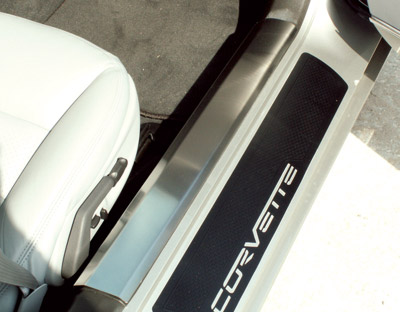 2005-2013 C6 Corvette C6 Inner Door Sill Covers - Polished Stainless Steel
