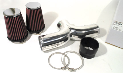 2001-2004 Corvette  Polished Aluminum Dual Air Intake with Filters, C5 Corvette