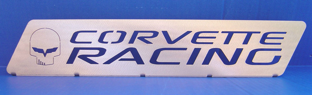 """JAKE"" Corvette Racing Mounted Table / Desktop Emblem"