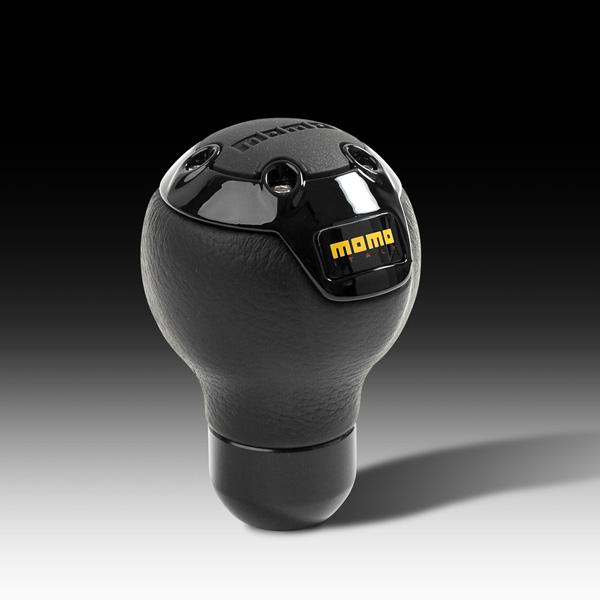 MOMO, NERO Black Leather, Shift Knob
