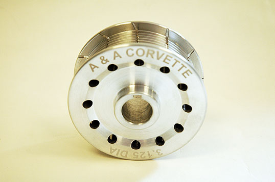 "A&A Corvette 3.125"" 8-Rib Supercharger Pulley"