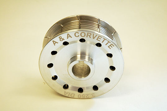 "A&A Corvette 3.25"" 8-Rib Supercharger Pulley"