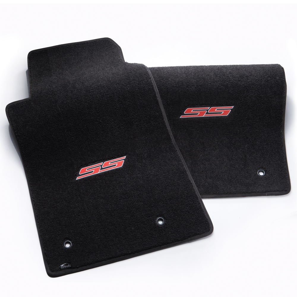 2010 Camaro Ultimat Floor Mats, Embroidered Camaro SS Logo Only