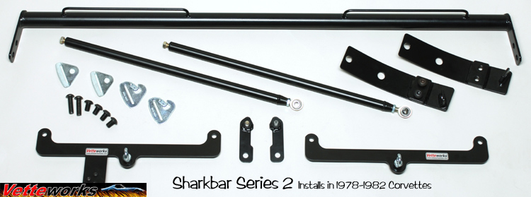 The Sharkbar Series 2 C3 Corvette Racing Harness Mounting Bar for 1978 to 1980