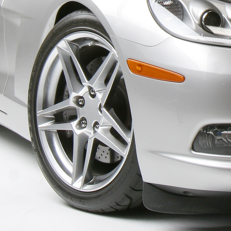 ACE Alloy C6 Corvette Offset 53 Corvette SLICK C6/Z06 Style CHROME Wheels 18x9.5 / 18x11 for Big Brakes