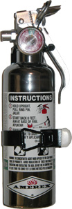 Chrome Halotron 1-Stored Pressure 1.4LBS Fire Extinguisher Corvette