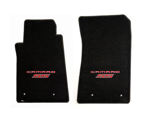 2010 Camaro Ultimat Floor Mats, Embroidered CAMARO and  SS Logos