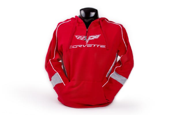 C6 Corvette Quarter Zip Hooded Sweatshirt