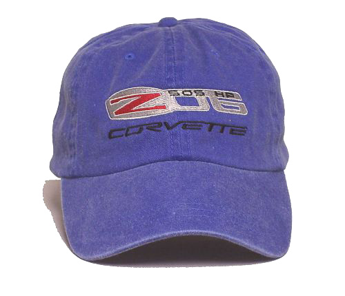 Hat - Blue Denim With C6 Z06 Corvette Logo